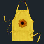 "Beautiful Yellow Sunflower Apron<br><div class=""desc"">Pretty yellow apron with a printed image of a beautiful yellow sunflower ornament. A stylish, elegant, chic, girly fashionable gift for women, teenage girls and kids and anyone who loves sunflowers. Available in adults and children&#39;s sizes. Please note: All products on the Zazzle website have flat printed images. Some elements...</div>"