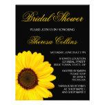Beautiful yellow sunflower bridal shower invite