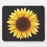 Beautiful yellow sunflower drawing mousepad