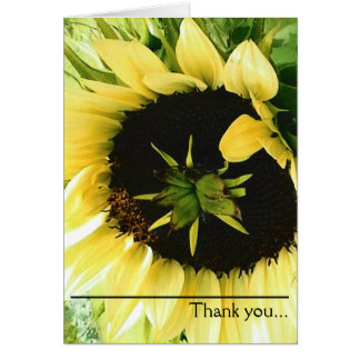 Beautiful Yellow Sunflower Thank you Card