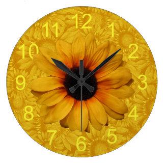 Beautiful Yellow Sunflowers Clock