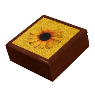 Beautiful Yellow Sunflowers Jewelry Gift Box