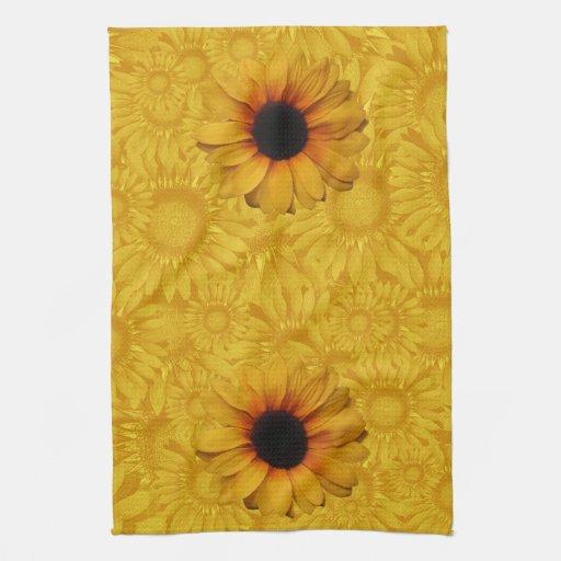 Sunflower Yellow Kitchen: Beautiful Yellow Sunflowers Kitchen Towel