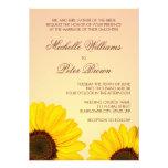 Beautiful yellow sunflowers wedding invitation