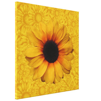 Beautiful Yellow Sunflowers Wrapped Canvas