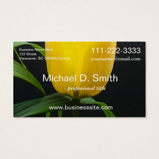 Beautiful yellow tulip flower professional business card