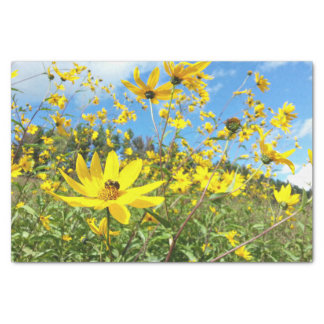 Beautiful Yellow Wildflowers Tissue Paper