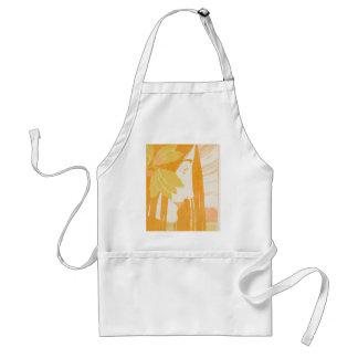 Beautiful  young women, art noveau print adult apron