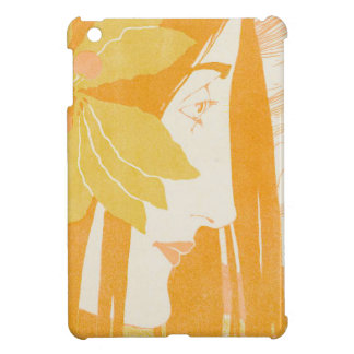 Beautiful  young women, art noveau print iPad mini case