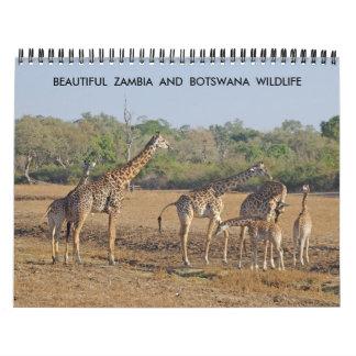 BEAUTIFUL ZAMBIA AND BOTSWANA WILDLIFE CALENDAR