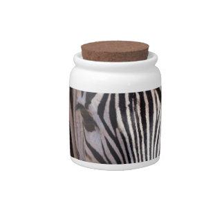 beautiful zebra candy dishes