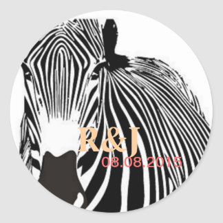 Beautiful Zebra Classic Round Sticker