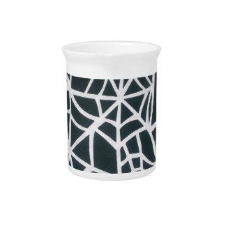 Beautiful Zebra Web of Black and White Stripes.JPG Beverage Pitcher