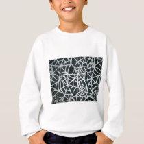 Beautiful Zebra Web of Black and White Stripes.JPG Sweatshirt