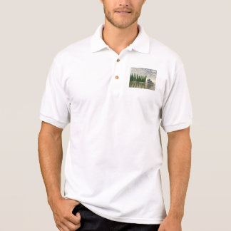 Beautiful zen landscape in the middle of aquatic polo shirt