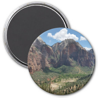 Beautiful Zion National Park 3 Inch Round Magnet