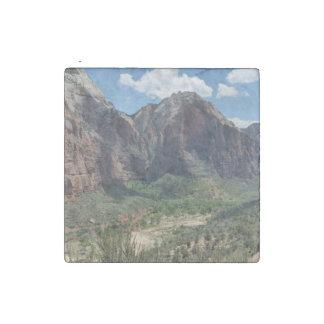 Beautiful Zion National Park Stone Magnet
