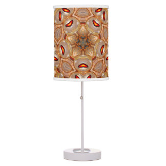 Beautifull Brown abstract colorburst table lamp