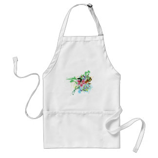 beautifull color spalsh lilly and butterflies adult apron