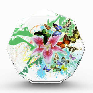 beautifull color spalsh lilly and butterflies awards