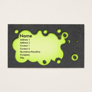 Beautifull customisable business card concrete