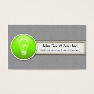 Beautifull Electrician/ Inventor Business Card