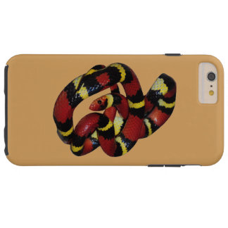 Beautifull red, black and yellow milk snake tough iPhone 6 plus case