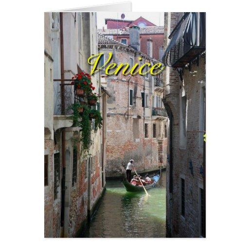 Beautifull Venice Italy Card