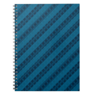 Beautifully Blue Stripes - Custom Spiral Notebook