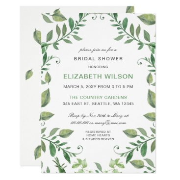 Beautifully botanical Bridal Shower Invitations