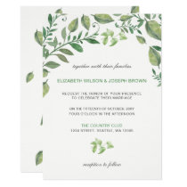 Beautifully botanical greenery wedding Invitations