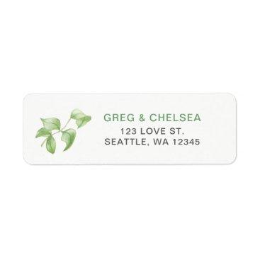 Beautifully botanical greenery wedding label