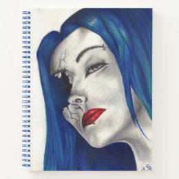 Beautifully Broken Goth Girl Horror Fantasy Art Notebook