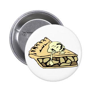 Beautifully creamy apple pie pinback button