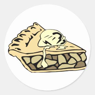 Beautifully creamy apple pie round sticker