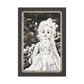 Beautifully Creepy Antique Doll Portrait Canvas Prints