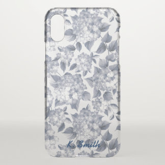 Beautifully Drawn Blue Spring  Flowers. iPhone X Case