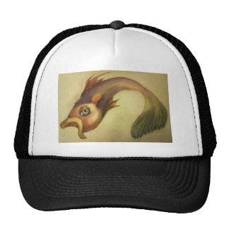 Beautifully illustrated color pencil fish design trucker hat