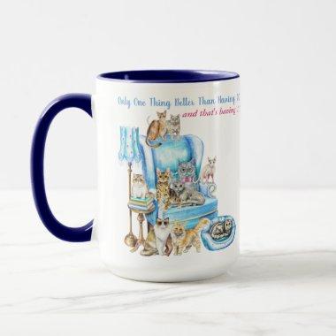 Beautifully Illustrated Crazy Cat Lady Customized Mug