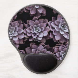 Beautifully patterned succulent plants gel mouse pad