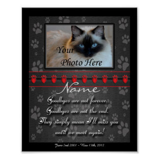 Beautifully Personalized Dog or Cat Memorial Poster