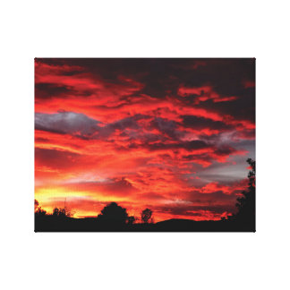 Beautifully photographed sunset on canvas gallery wrapped canvas