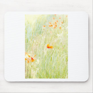 Beautifully tender colors of a flowering meadow mousepads
