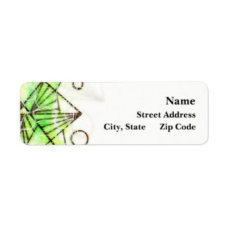 Beautifully You - Green Return Address Label