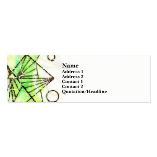 Beautifully You - Green - Skinny Double-Sided Mini Business Cards (Pack Of 20)
