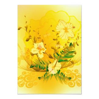Beautifulsoft yellow flowers card