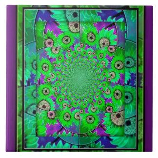 Beautiul blue,green & purple wall tile
