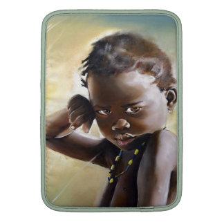 "Beauttiful African Child Art on 13"" Macbook Sleeve"