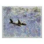 Beauty Above... Jet In The Sky.. Print