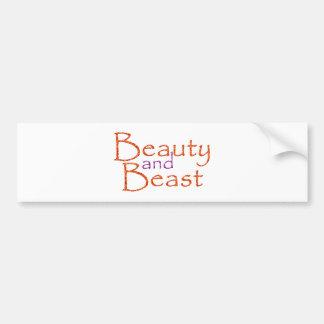 Beauty and Beast Bumper Sticker